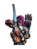 Marvel Adventures Avengers No.16 Cover: Hawkeye Print by Tom Grummett