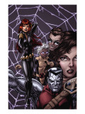X-Men Forever No.12 Cover: Black Widow, Colossus and Storm Poster by Tom Grummett