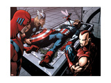 Avengers Finale 1 Group: Captain America, Giant Man, Iron Man, Thor and Wasp Prints by Neal Adams