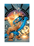 Marvel Adventures Fantastic Four 37 Cover: Thing, Mr. Fantastic, Invisible Woman and Human Torch Art par Graham Nolan