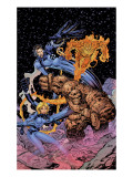 Fantastic Four: Heroes Reborn Cover: Mr. Fantastic, Invisible Woman, Thing and Human Torch Poster von Jim Lee