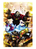 Guardians Of The Galaxy 1 Cover: Star-Lord, Drax The Destroyer and Rocket Raccoon Prints by Pelletier Paul