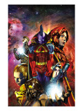 War of Kings: Who Will Rule No.1 Cover: Gladiator, Gorgon, Crystal, Karnak, Havok and Medusa Prints by Brandon Peterson