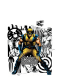 Wolverine 27 Cover: Wolverine, Nick Fury and Elektra Print by Land Greg