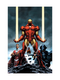 Iron Man No.84 Cover: Iron Man, Falcon, Black Panther, Wasp, Ant-Man and Avengers Poster by Steve Epting