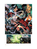 Dark Avengers No.7 Group: Wolverine, Dagger, Avalanche and Weapon Omega Prints by Ross Luke