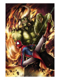 Spider-Man India 4 Cover: Spider-Man and Green Goblin Posters