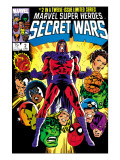 Secret Wars 2 Cover: Magneto, Hulk, Spider-Man, Thing, Iron Man and Thor Posters by Mike Zeck
