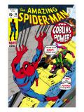 Omslag från The Amazing Spider-Man nr 98 – Green Goblin och Spider-man kämpar mot varandra Planscher av Gil Kane