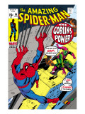 The Amazing Spider-Man 98 Cover: Green Goblin and Spider-Man Fighting Print by Gil Kane