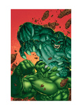 Marvel Age Hulk 4 Cover: Hulk and Abomination Print by John Barber