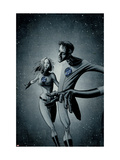 Marvek Knights 4 28 Cover: Mr. Fantastic and Invisible Woman Poster by Aja David