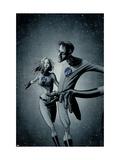 Marvek Knights 4 No.28 Cover: Mr. Fantastic and Invisible Woman Prints by David Aja