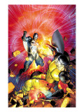 War of Kings No.6 Cover: Black Bolt and Vulcan Prints by Brandon Peterson