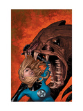 Marvel Knights 4 No.7 Cover: Invisible Woman Lifting Posters by Steve MCNiven
