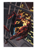 Marvel Age Spider-Man 15 Cover: Spider-Man and Daredevil Print by Roger Cruz
