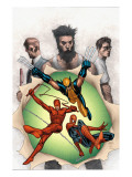 Powerless No.6 Cover: Wolverine, Daredevil, Matt Murdock, Spider-Man, Peter Parker, Logan Posters by MCNiven Steve