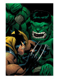 World War Hulk: X-Men No.2 Cover: Wolverine and Hulk Prints by McGuiness Ed