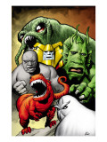 Marvel Monsters: Ulysses Bloodstone Group: Red Ronin and Fin Fang Foom Art