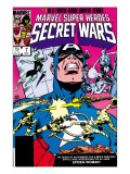 Secret Wars No.7 Cover: Captain America, Spider Woman, Doctor Octopus and Wolverine Poster by Mike Zeck