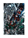 Dark Avengers 4 Cover: Dr. Doom and Iron Patriot Poster par Mike Deodato Jr.