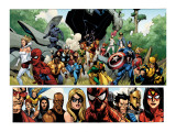 Secret Invasion No.1 Group: Captain America, Spider-Man and Vision Prints by Leinil Francis Yu