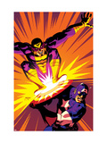 Captain America V4, No.30 Cover: Captain America and Batroc The Leaper Prints by Dave Johnson