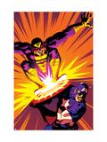 Captain America V4, No.30 Cover: Captain America and Batroc The Leaper Prints by Dave Johnson