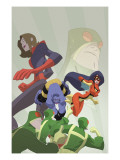Marvel Adventures Super Heroes 16 Cover: Beast, Spider Woman and Giant Girl Art by Sean Galloway