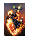 Ghost Riders: Heavens on Fire 5 Cover: Ghost Rider Art par Land Greg