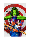 She-Hulk 2 Cover: She-Hulk and Hawkeye Posters