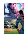 Marvel Adventures The Avengers No.26 Cover: Silver Surfer and Galactus Prints by Kirk Leonard