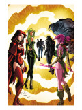 Exiles 3 Cover: Scarlet Witch, Polaris and Blink Print by Dave Bullock