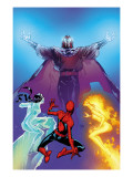 Ultimate Spider-Man No.119 Cover: Spider-Man, Firestar, Iceman and Magneto Poster by Immonen Stuart
