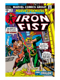The Immortal Iron Fist: Marvel Premiere 16 Cover: Iron Fist and The Scythe Print by Gil Kane