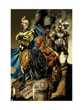 New Avengers No.49 Cover: Sentry, Cage, Luke and Ares Posters by Tan Billy
