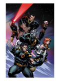 Ultimate X-Men No.100 Cover: Wolverine, Colossus, Grey, Jean, Storm, Beast and Cyclops Prints by Ed McGuinness