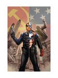 Captain America No.44 Cover: Captain America and Winter Soldier Prints by Epting Steve