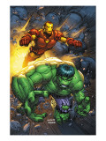 Marvel Team-Up No.4 Cover: Hulk and Iron Man Prints by Kolins Scott
