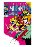 New Mutants Annual No.2 Cover: Magik Posters by Davis Alan