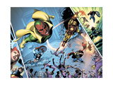 Avengers Finale No.1 Group: Vision, Iron Man, Captain America, Thor and Avengers Print by Mike Mayhew