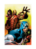 Avengers 501 Cover: Captain America, Iron Man, Scarlet Witch, She-Hulk and Avengers Poster by David Finch