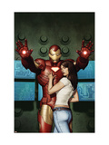 Iron Man No.5 Cover: Iron Man, Hansen and Maya Art