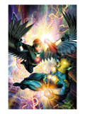 Nova No.31 Cover: Darkhawk and Nova Prints by Brandon Peterson