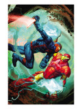 New Warriors 20 Cover: Night Thrasher and Iron Man Prints