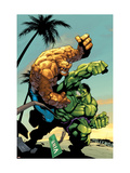 Tales Of The Thing #2 Cover: Thing and Hulk Fighting Poster por Randy Green