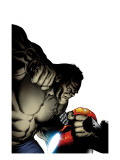 Ultimate Human No.3 Cover: Hulk and Iron Man Prints by Nord Cary