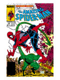 Amazing Spider-Man No.318 Cover: Spider-Man and Scorpion Kunstdruck von Todd McFarlane
