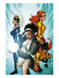 Marvel Divas 3 Cover: Photon, Hellcat, Black Cat and Firestar Prints by Patrick Zircher