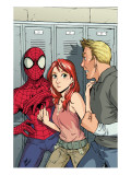 Spider-Man Loves Mary-Jane 2 Cover: Spider-Man, Mary Jane Watson, and Flash Thompson Prints by Miyazawa Takeshi